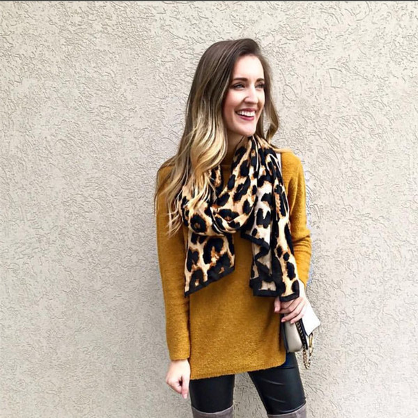 Free shipping leopard scarf exquisite edging autumn and winter cotton scarf female travel shawl big beach shawl 185cm*95cm