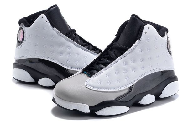 Kids 13 Grey Pink Black White Basketball Shoes Childrens Sports Shoes 13s Sneakers Cheap Kids Shoes fashion trainer for Children