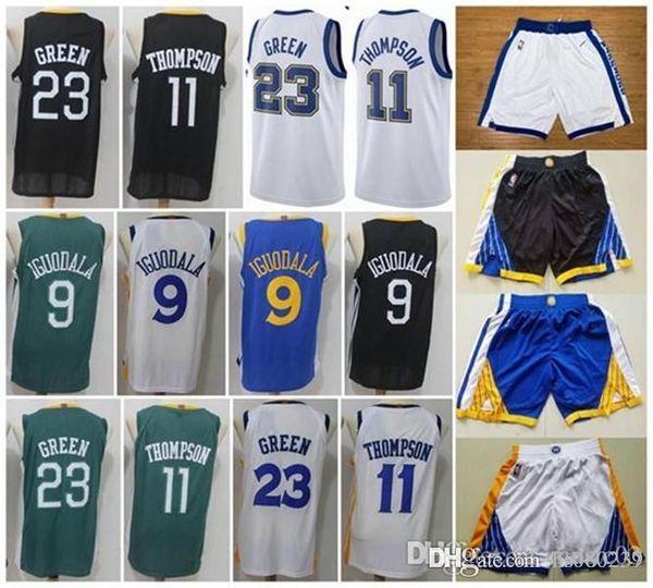 dfb264c3b Golden State Warriors 11 Klay Thompson 23 Draymond Green 9 Andre Iguodala  Men s Basketball Jerseys 2018