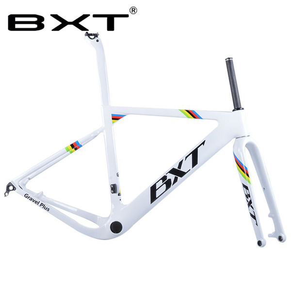 2018 new BXT Carbon Gravel Bike Frame aero Road or MTB frame 142x12mm disc brake Cyclocross Gravel Carbon Bicycle Frame Rated 4.5 /5 based o