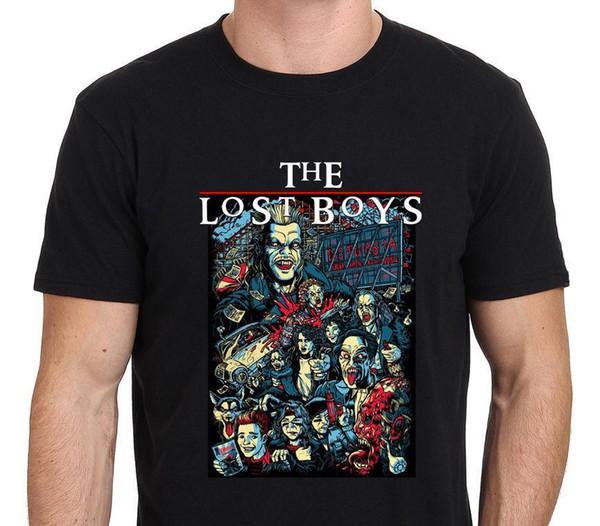 The Lost Boys Ilustración Inspiration Art Camiseta negra para hombre Tamaño: S-3xL Camiseta ajustada con letra ajustada y muy fresca