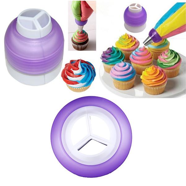 Cake Cream Dessert Decorators 3 Color Coupler Cake Tools Cupcake Cream Decorating Bags Converter Tools New