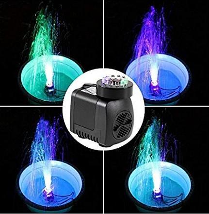 Водяной фонтан 25 Вт высокий насос с 12 светодиодным шнуром для аквариума фонтан Аквариум бассейн Садовый пруд