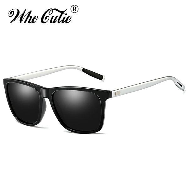 WHO CUTIE 2019 Men Polarized Sunglasses Aluminium Magnesium Frame Driving Square Lens Male Sun Glasses High Quality Shades OM778