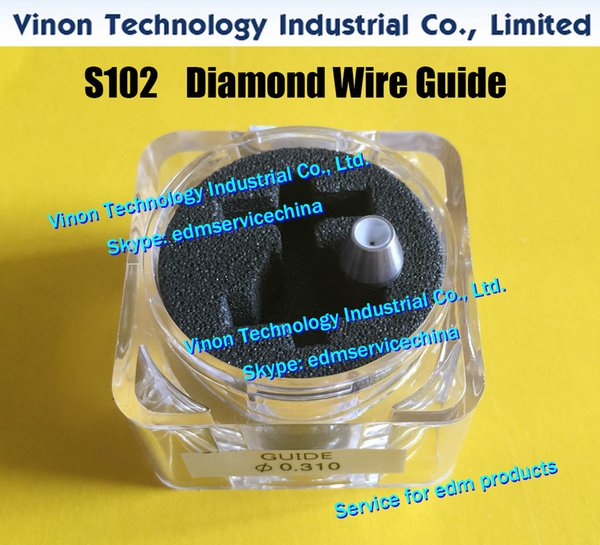 d=0.31mm Diamond Dies Guide S102 3080250 edm Upper Dies B for AWT 0.31mm 0200145 for AQ,A,EPOC series wire-cut edm machine wire guide S102