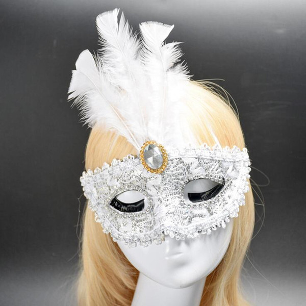 Women Girls Sexy Lace Mask Half Face Mask With Flower For Adults Princess Venice Masquerade Party Supplies