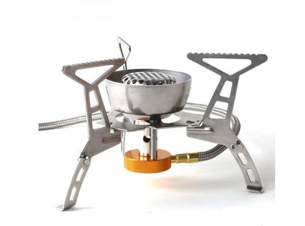 الجملة المحمولة قابلة للطي مصغرة التخييم بقاء الطبخ فرن موقد الغاز في الهواء الطلق