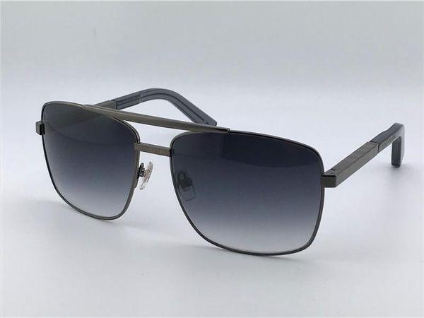 9857b4970a vintage hommes lunettes de soleil en plein air attitude clssic métal argent  cadre carré uv 400