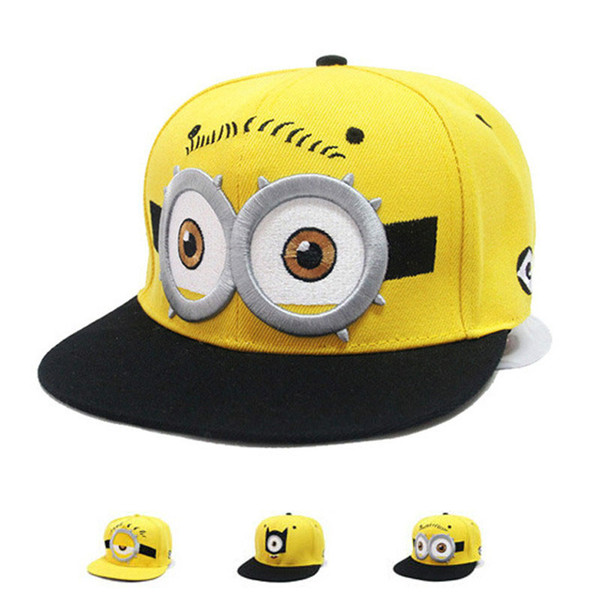 [HEAD BEE] 2018 Fashion Baseball Cap Snapbacks Children Cartoon  Hat Embroidery Big Eye Casquette for Boy and Girl