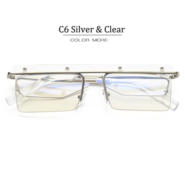 C6 Silver Frame Clear Lens
