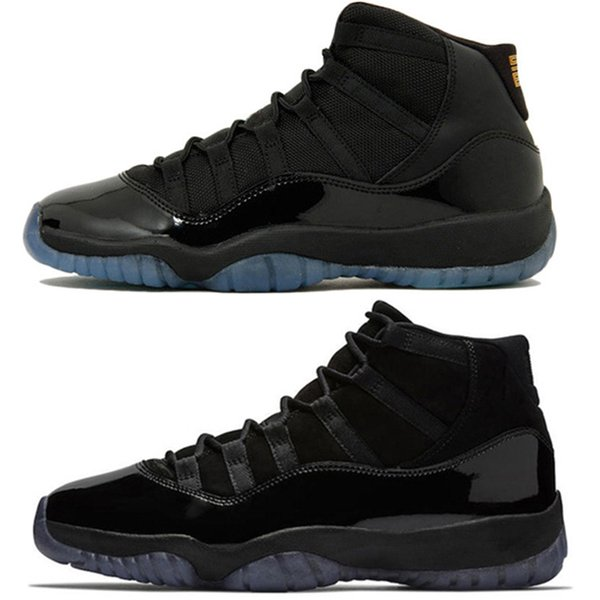 Hot sale men Basketball Shoes 11 gray black Prom Night high gym red Men Women Cap and Gown gamma blue white shoes Sneakers size US 5.5-13