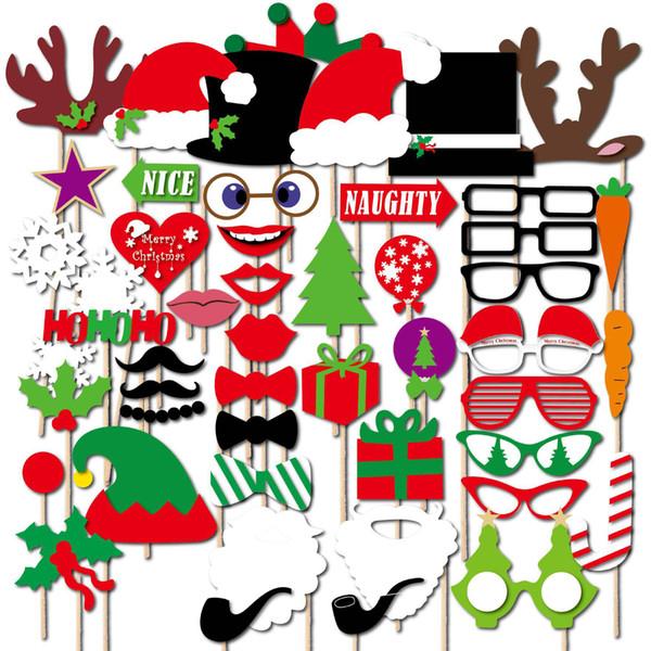 Photo Booth Weihnachten.Grosshandel Weihnachten Foto Booth Props Kit 47 Stucke Konsait Diy Weihnachten Photo Booth Mit Stick Lustige Weihnachten Selfie Requisiten Zubehor Fur