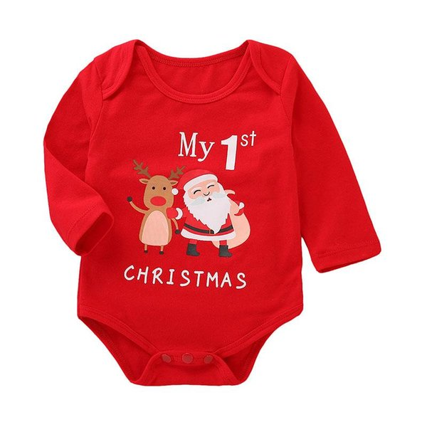 Halloween Christmas Baby girls boys Pumpkin Santa Claus deer print romper cartoon Long sleeve Jumpsuits Autumn kids Climbing clothes