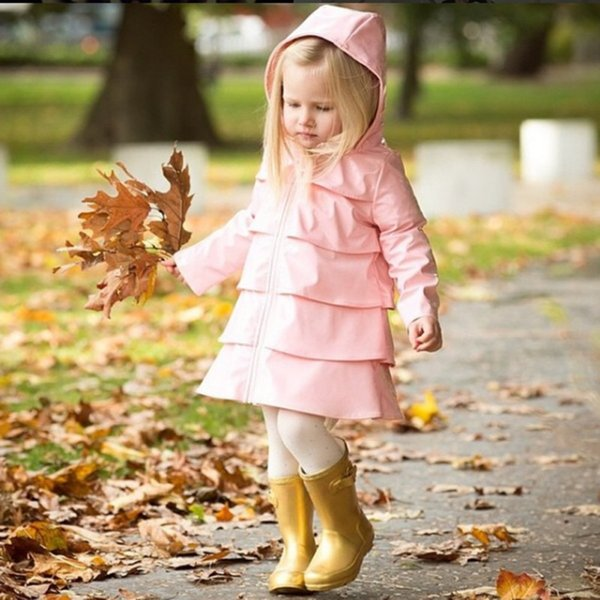 Tide child jacket 2018 autumn children's windbreaker jacket girls British long coat Cotton breathable skin protection