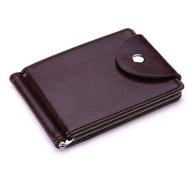Abrazadera de moda para dinero Clips de dinero de cuero genuino Bolsillo de monedas de tarjeta mini Carteras de cuero de hombres de alta calidad