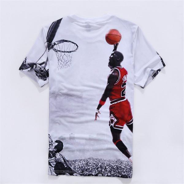 2018 Nova Moda Maré Mens T Shirt Verão Top Venda Quente Mangas Curtas Tops Esporte camiseta 3D Impresso Número 23 T-shirt para homens