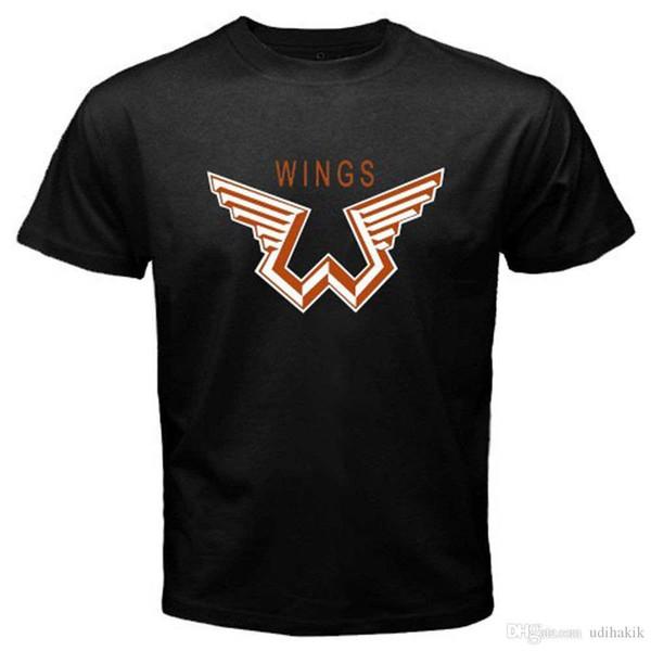 Новая мужская черная футболка Paul McCartney and Wings с размерами S-3XL