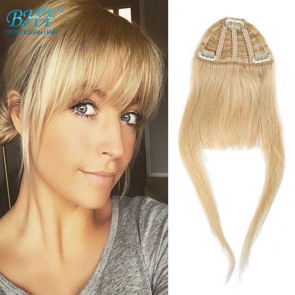 BHF Human hair bangs 100% Remy Natural Hair extension fringe 8inch long 20g full forhead human hair bangs