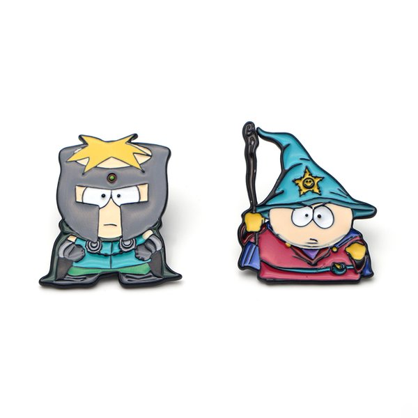 P2389 Dongmanli Schmuck South Park TV-Serie niedliche Hut Pin Emaille Revers Pin Magier Broschen Tasche Abzeichen Geschenk