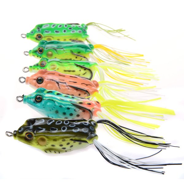 5.5cm 13.7g Frog Shape Artificial Fishing Lures Snakehead Fish Baits Freshwater Saltwater Strong Fishing Double Hooks Free Shipping