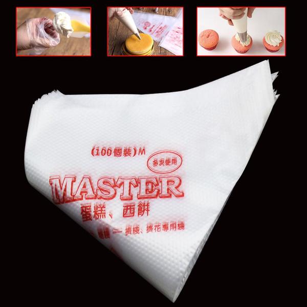 100pcs Disposable Pastry Bag Icing Piping Cake Cupcake Decorating Sugarcraft Bag