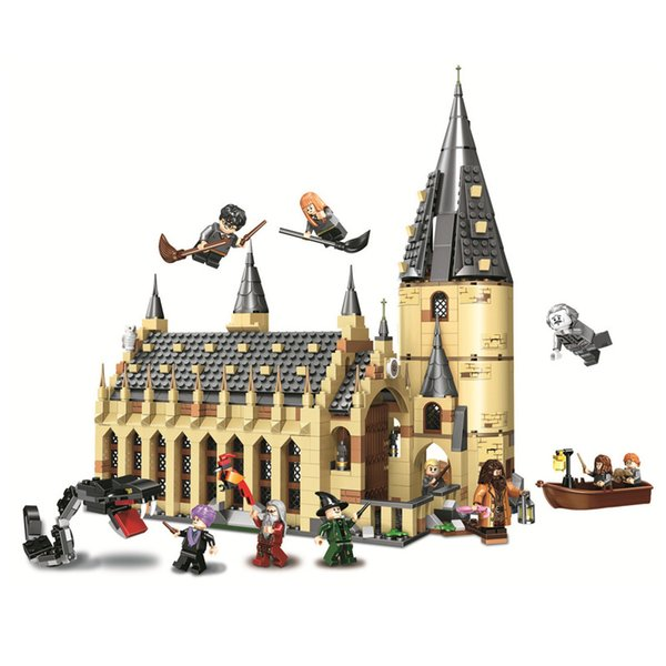 983Pcs Harry Movie Potter Hogwarts Great Wall Set Building Blocks House Model Kids Toys Christmas Gifts