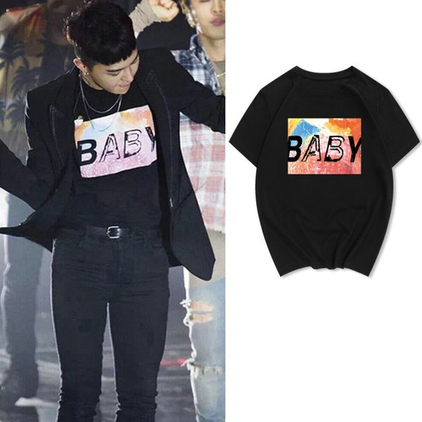 Baby t shirt G Dragon GD short sleeve gown 100 pure cotton tees 8 colors printing tops Quality unisex Tshirt