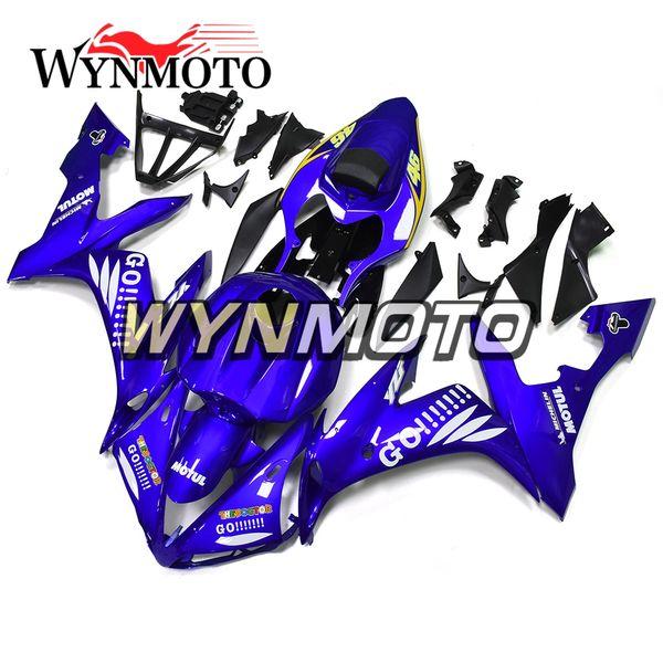Vollständige Verkleidungen Yamaha YZF1000 R1 2004 2005 2006 Jahr 04 05 06 Spritzguss-Body Kit Motorrad Verkleidung Abdeckungen Gloss Blue Cowlings Karosserie