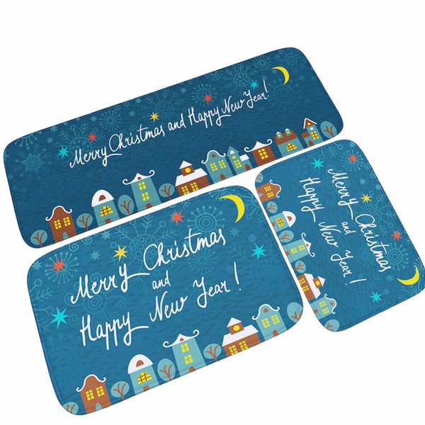 40 * 60 cm Weihnachtsdekoration Geschenke Drucken Badematten Weichen Wasseraufnahme Teppiche Teppiche Greifer Rutschfeste Matte Für Wohnzimmer / Küche Zimmer