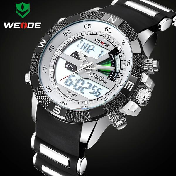 Luxury Brand WEIDE Men Fashion Sports Watches Men's Quartz Analog LED Clock Male Military Wrist Watch Relogio Masculino Y1892111