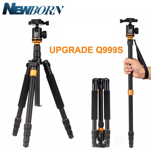 Upgrade Q999S Professional Photography Portable Aluminum Ball Head+Tripod To Monopod For Canon Nikon Sony DSLR Camera