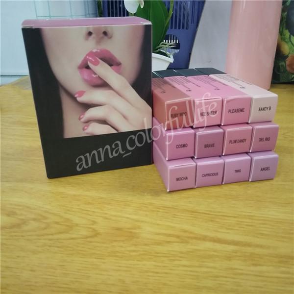 M barnd Makeup 12 color Lips Lustre Lip Gloss Matte liquid Lipstick natural long lasting waterproof lip cosmetics