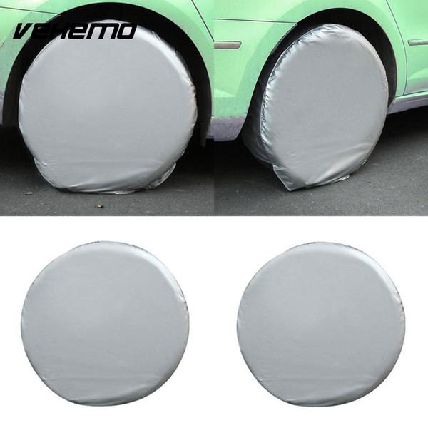 Cubierta universal del neumático de la cubierta del neumático de Vehemo 2pcs / set Cubierta de la cubierta del neumático del coche de la rueda resistente