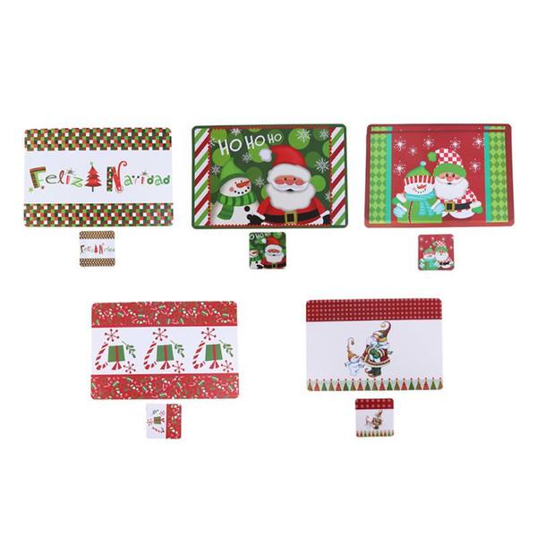 Lot de quatre Noël napperons-Santa Dîner Tapis-Santa Table Mat Set
