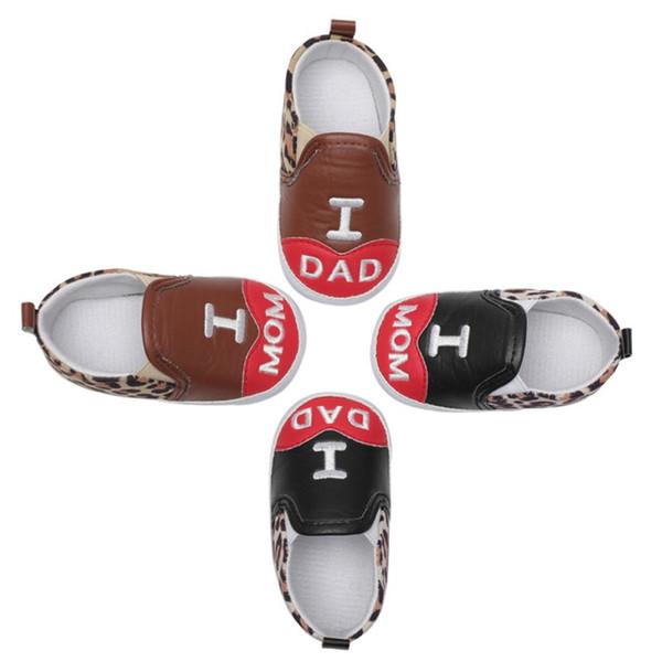 Bebek ayakkabı Avrupa Tarzı bebek adım çizmeler erkek bebek kız ayakkabı elastik PU deri yumuşak Leopar baskı