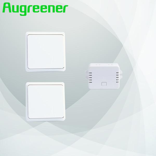 Augreener novo 2 botões + 1 receptor interruptor sem fio interruptor de controle remoto luz de parede frete grátis botão