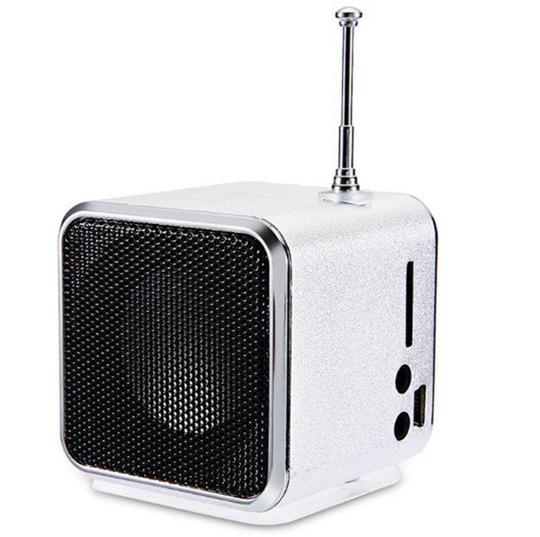 HENGYUE TD-V26 Mini Speaker Portable Digital LCD Sound Micro SD/TF FM Radio Music Stereo Loudspeaker for Laptop Mobile Phone MP3 20PCS