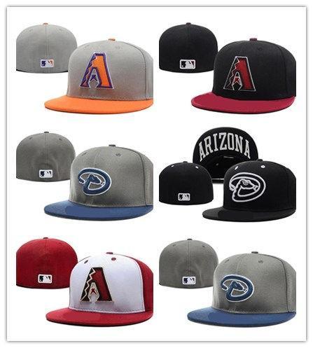 Neueste heiße Arizona Diamondbacks passte Hüte Mens, Sport-angesagte Hopfen-angepasste Kappen-Frauen, Art- und Weisebaumwollbeiläufige Hüte