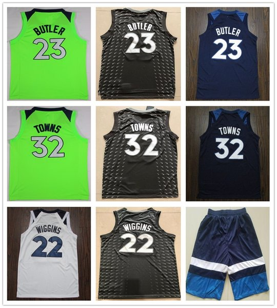 new concept e1b54 dde91 2018 Stitched 2019 New Style 23 Jimmy Butler Jerseys Basketball The City  Grey Green White Blue 22 Andrew Wiggins 32 Karl Anthony Towns Jersey From  ...