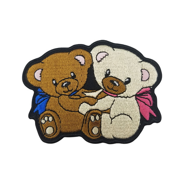Cartoon Baby Bear Patch Embroidered Patches For Clothing Cartoon Fashion Decoration Iron On Patches Kids DIY Cute Sewing Embroidered Parches