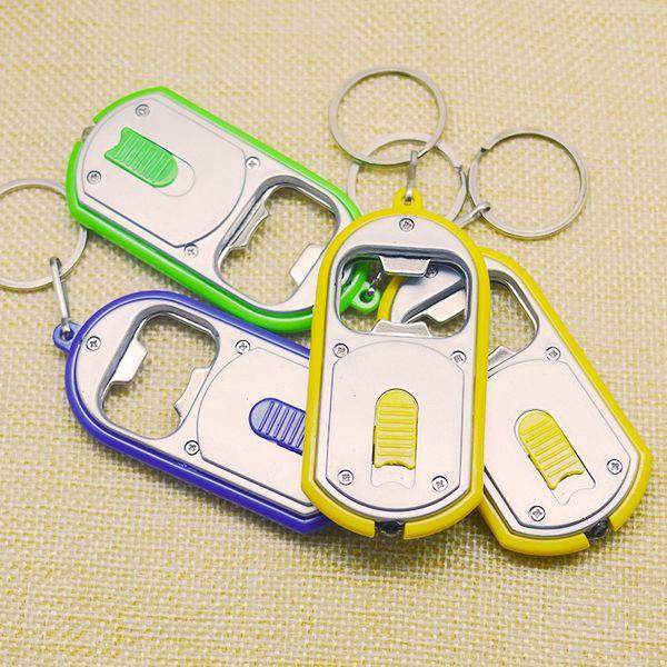 Creative gift bottle opener Pendant with lamp key button LED bottle opener light wholesale
