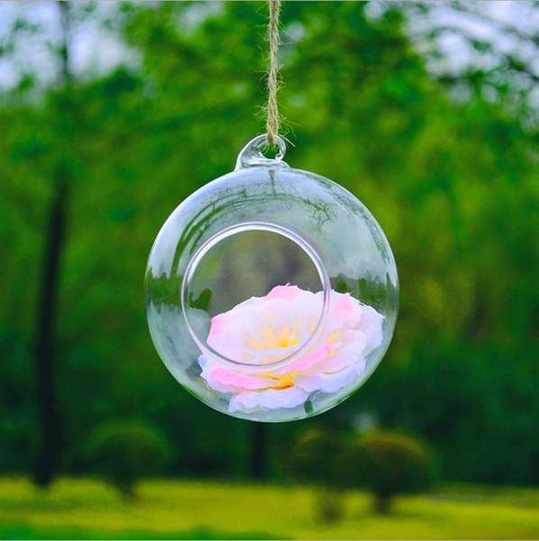8piece Wall Hanging Glass Vase Plants Flower Hydroponic Landscape DIY Bottle Candlestick Terrarium Home Decor