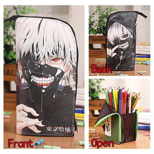Cosplay Anime Tokyo Ghoul Zipper Pen Bag Colorful Cosmetic Bag for Student School Supply or Creative Gift