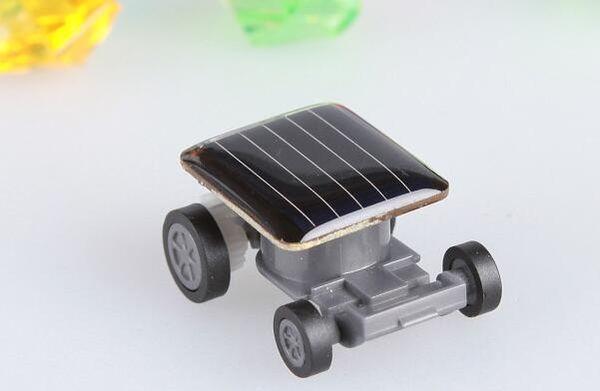 Hot sale Popular Smallest Mini Car Solar Powered Toy Car New Mini Children Solar Toy Gift Free shipping