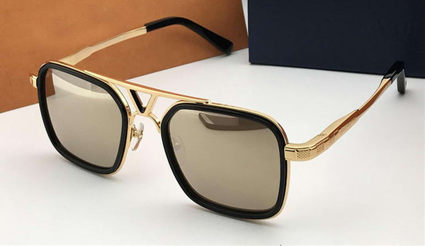 Luxuy Mens Altın Pilot Güneş Gözlüğü Altın Sonnenbrille Gafas de sol Tasarımcı güneş gözlükleri Shades kutusu ile yeni