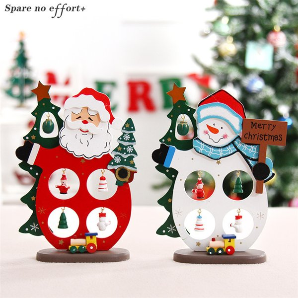 Regali Di Natale In Legno Fai Da Te.Acquista Decorazioni Di Natale La Casa In Legno Fai Da Te Babbo Natale Pupazzo Di Neve Giocattoli Di Natale Mestiere Di Natale Di Compleanno Regali Di