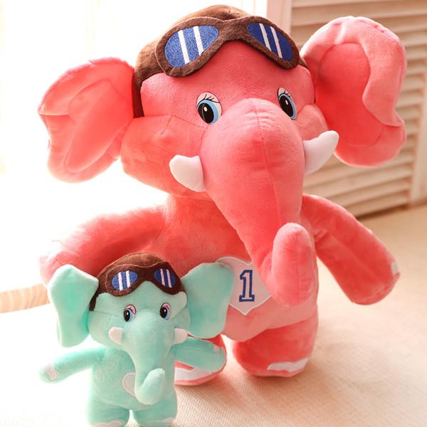 20-70 cm dos desenhos animados pequeno elefante brinquedos de pelúcia azul / rosa elefante pano boneca de presente de Natal animais de pelúcia boneca de pelúcia infantil