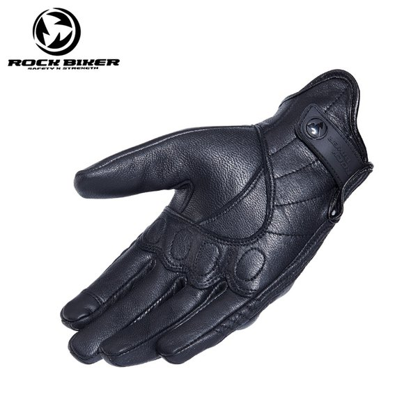 ROCK BIKER Vintage Real Leather Motorcycle Gloves Unisex Black Yellow S~XXL Touch Screen luva motociclista Protective Gears