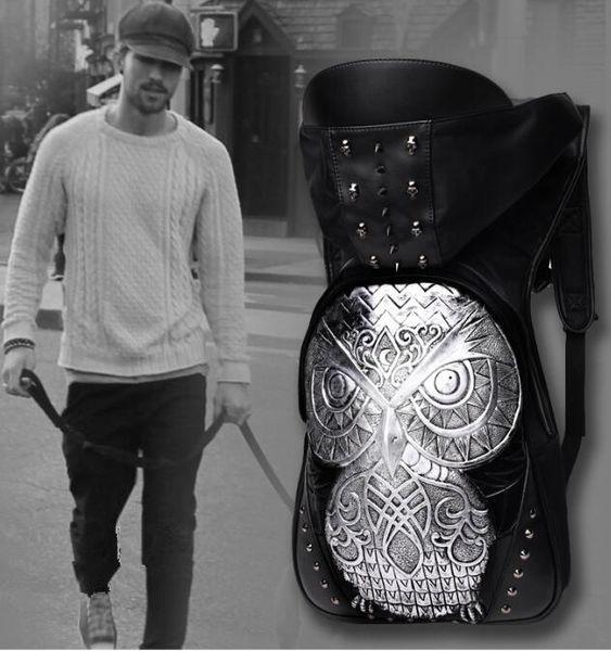 Usine en gros marque haut de gamme stéréo mâle paquet 3D chouette sac à dos sac à dos Europe chapeau de vent Liu Dingnan personnalité cool Sac à dos