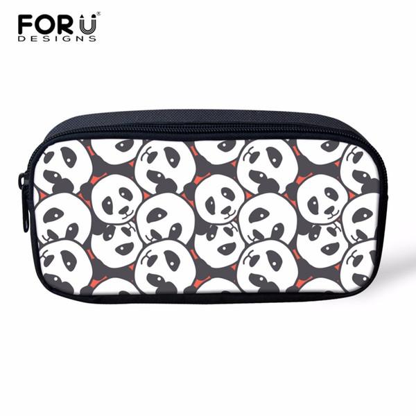 wholesale Cute Panda Women Makeup Bag Cosmetic Cases Cartoon Children Pencil Bags Kids Pen Pouch for Child School Supplies